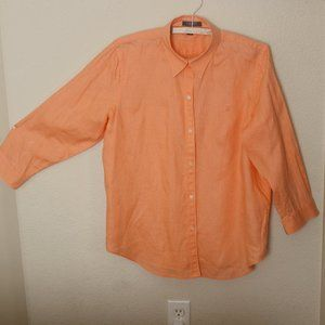 Vintage CHAPS Est 1978 100% Linen Women's Orange B